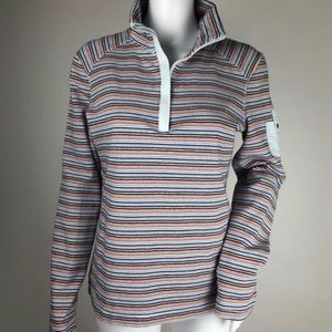 Tommy Hilfiger Jeans 1/4 Zip Neck Top Size L